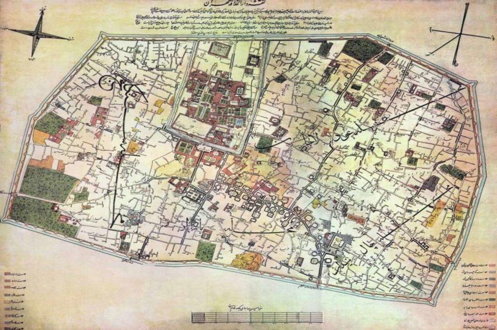 نقشه تهران قدیم - نقشهتهران
