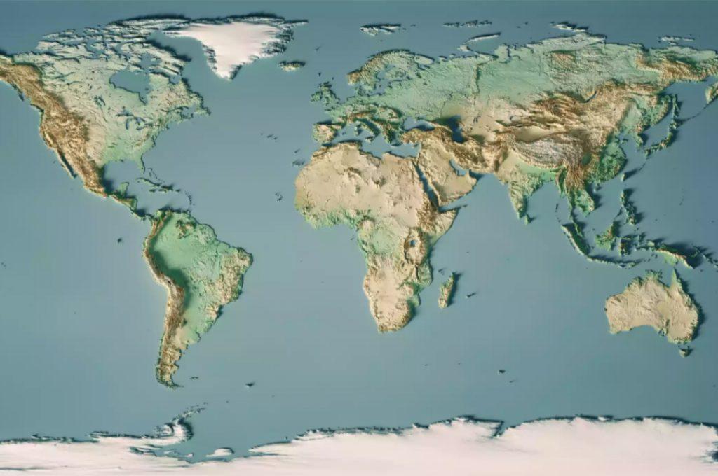 نقشه کل جهان - نقشه جهان