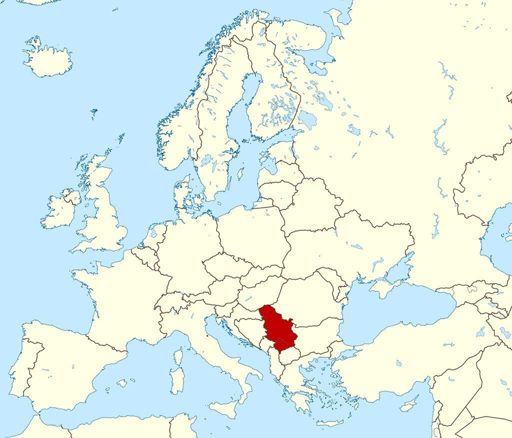 نقشه-صربستان
