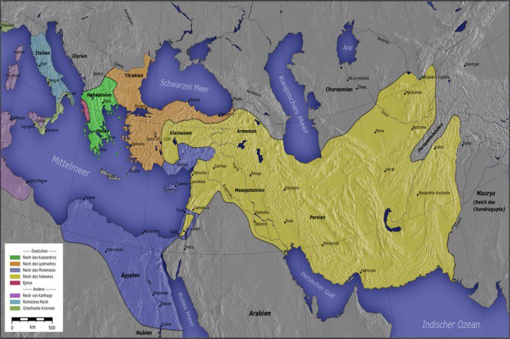 نقشهی ایران باستان در زمان سلوکیان