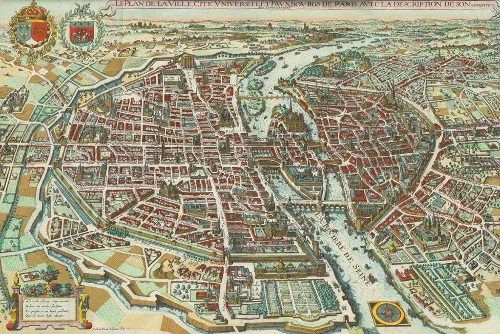نقشه تاریخی پاریس
