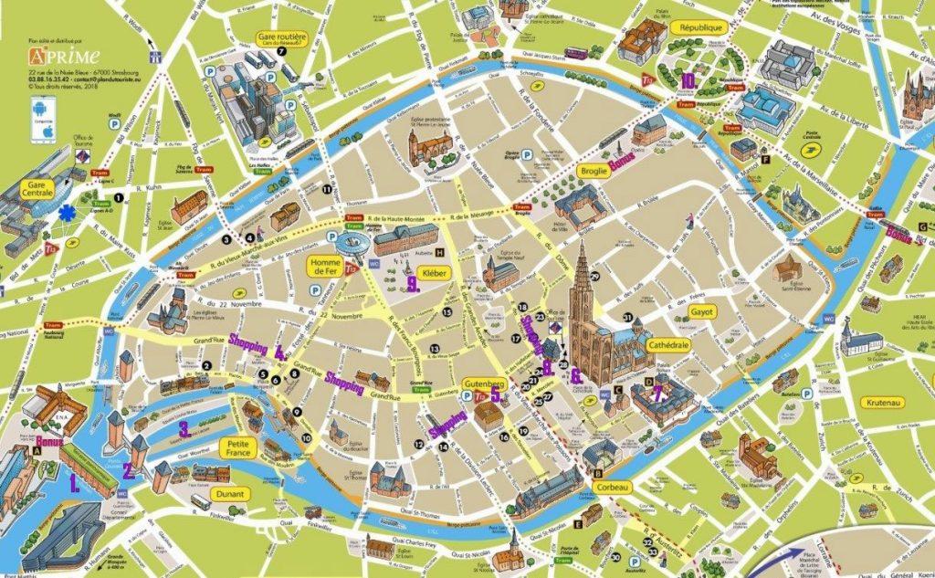 نقشه شهر استراسبورگ فرانسه