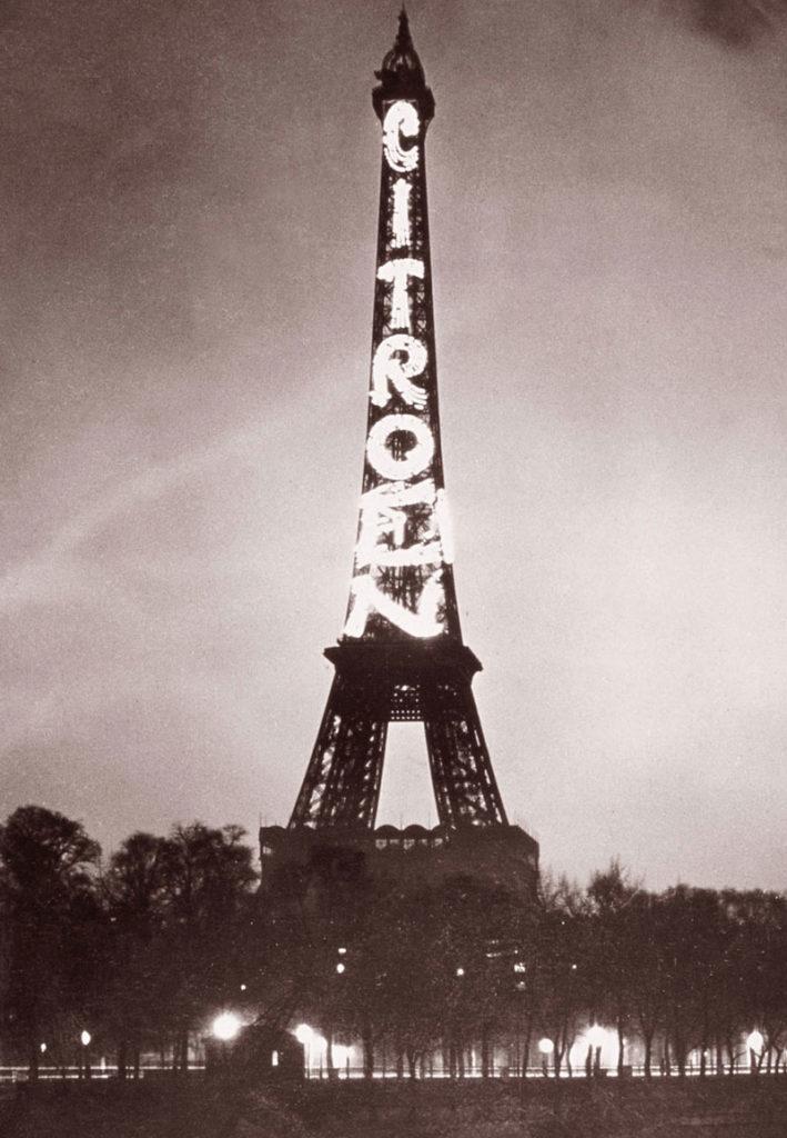 تبلیغات سیتروئن در برج ایفل