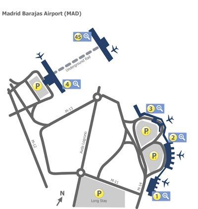 پلان فرودگاه باراخاس مادرید
