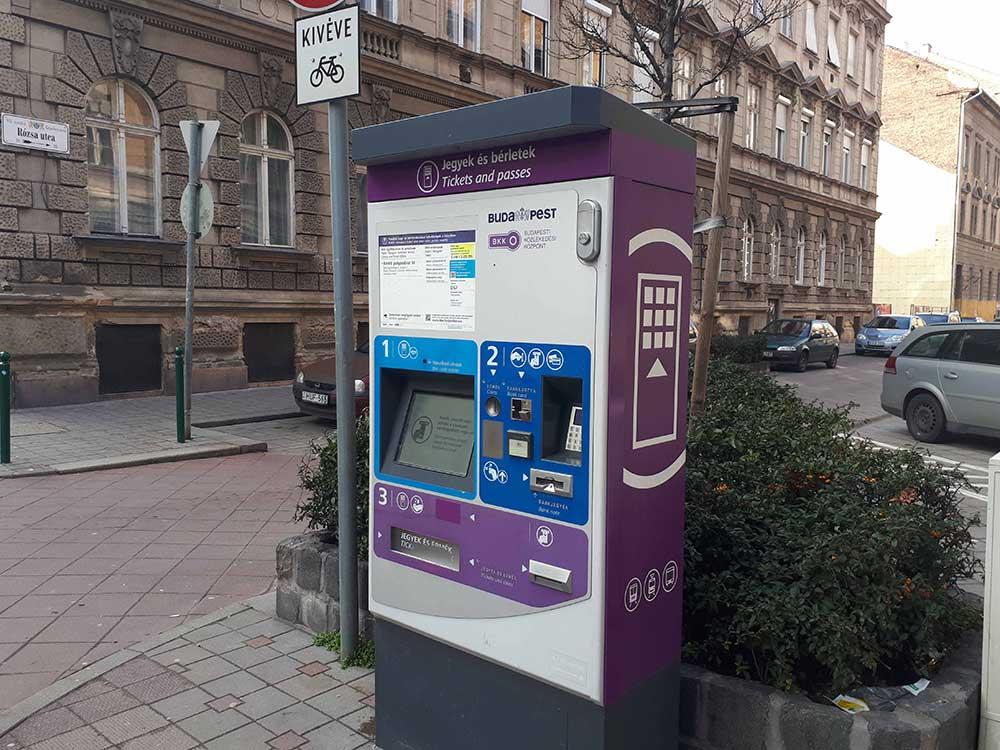 بلیت حمل و نقل عمومی در بوداپست مجارستان