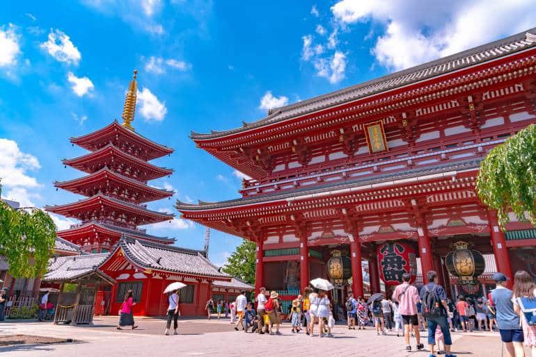 معبد سنسوجی، قدیمیترین معبد توکیو