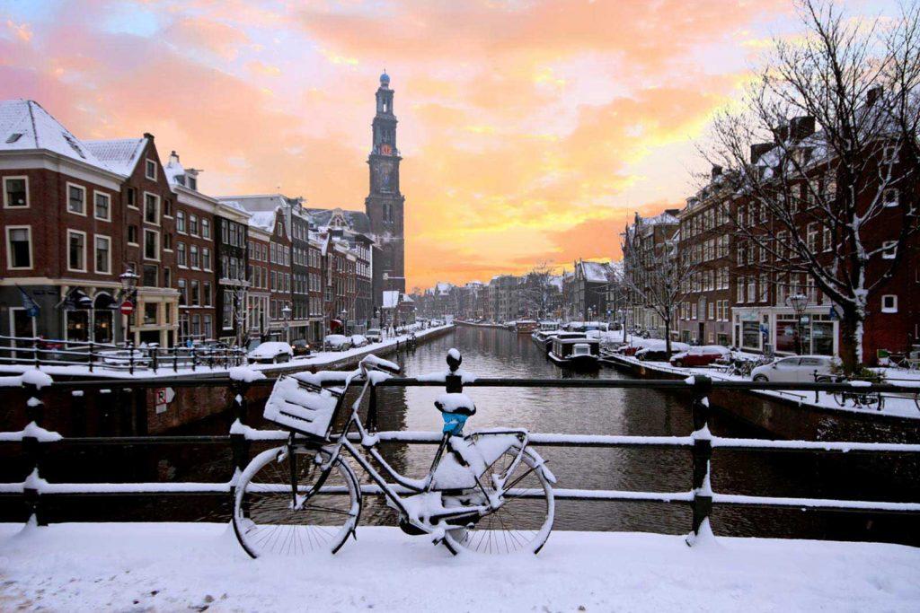 آمستردام در زمستان