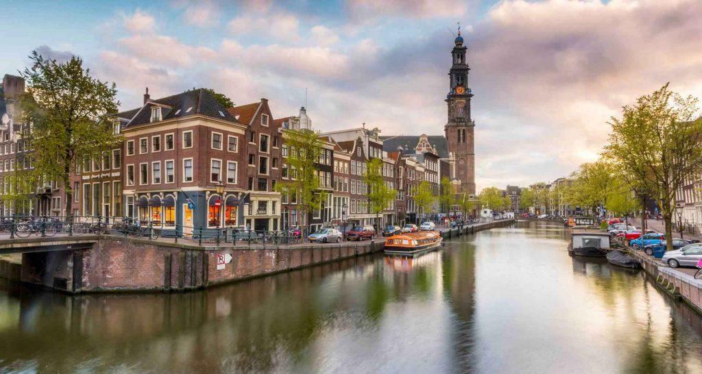 جغرافیا و آب و هوای آمستردام هلند