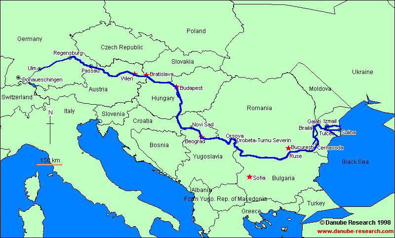 نقشه رود دانوب