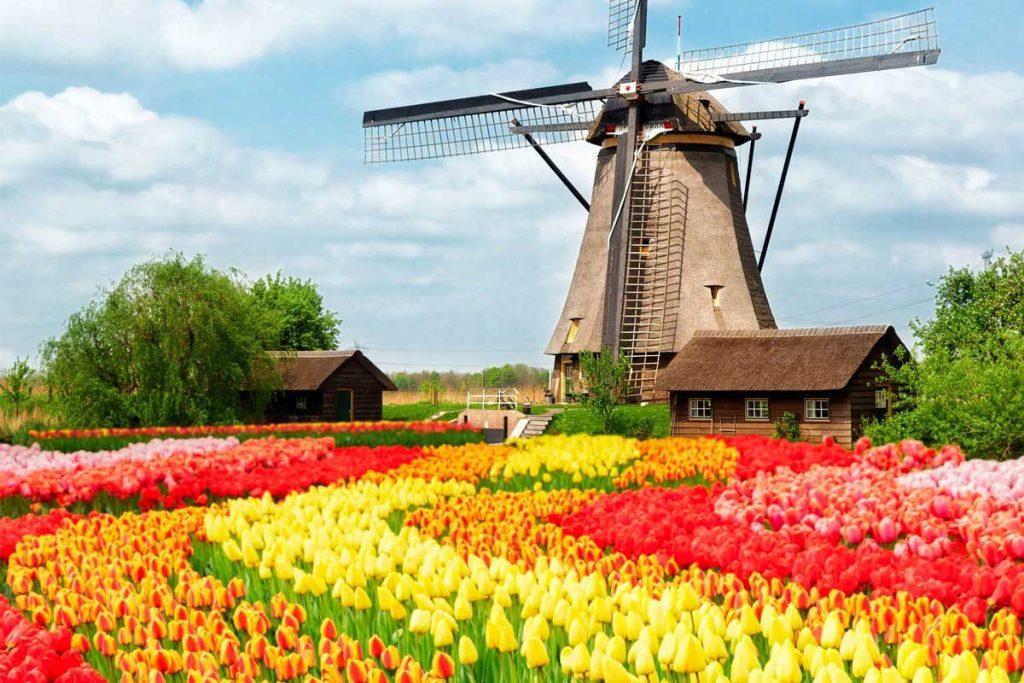 آب و هوای هلند در بهار