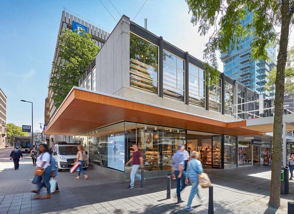 خیابان Lijnbaan - مراکز خرید روتردام