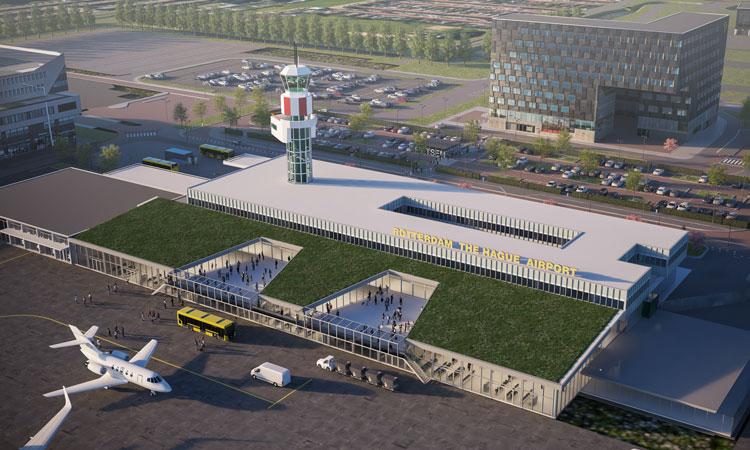 عکس هوایی فرودگاه روتردام