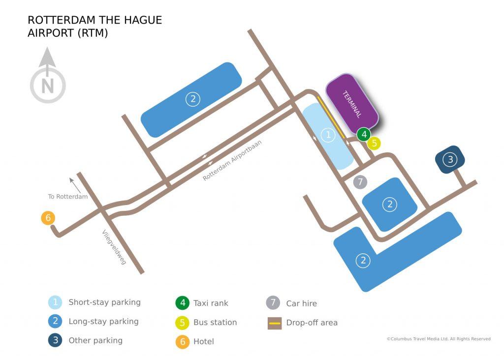 نقشه فرودگاه روتردام
