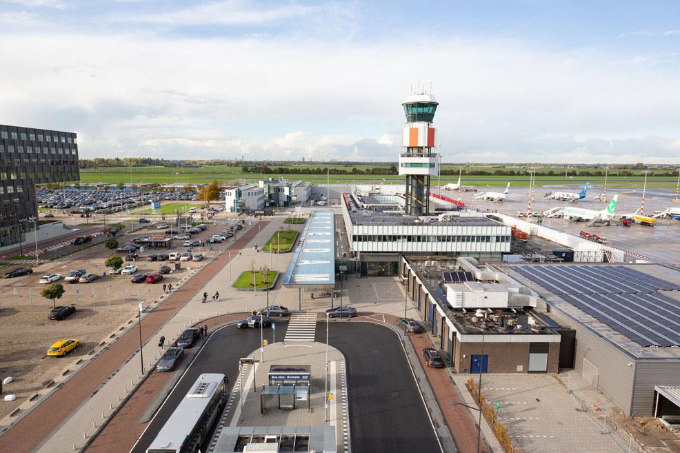 نمایی از فرودگاه روتردام