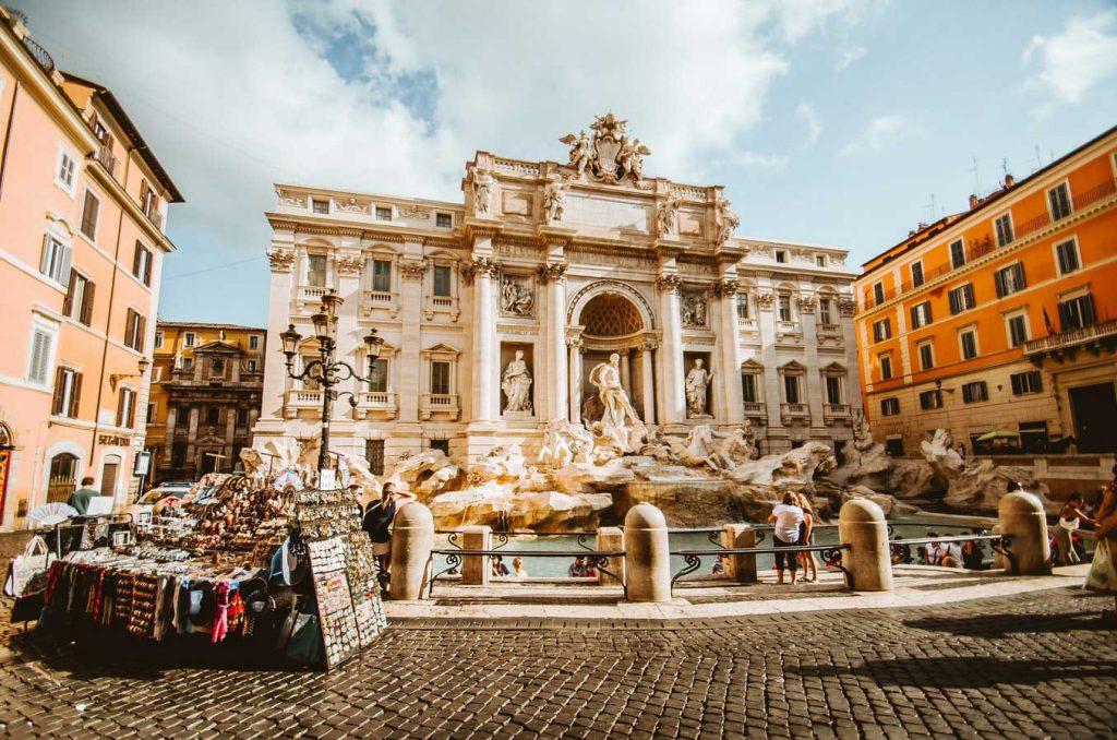 تاریخچه فوارهی تروی - فوارهی تروی رم