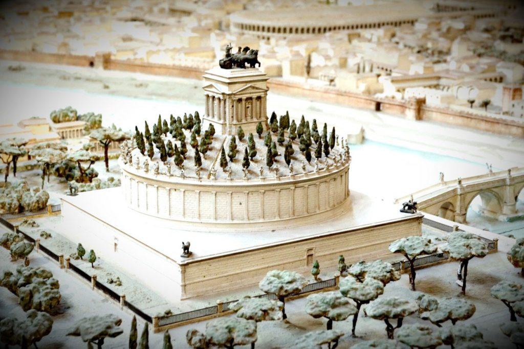 تصویر بازسازی شده از قلعه سنت آنجلو یا مقبره هادریان