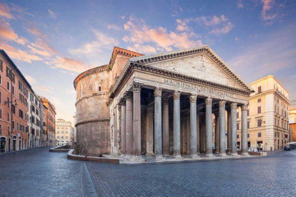 معبد پانتئون رم، نبوغ معماران روم باستان