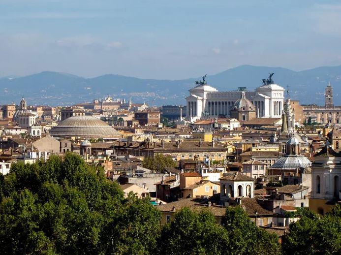 منظره رم از بالای قلعه سنت آنجلو