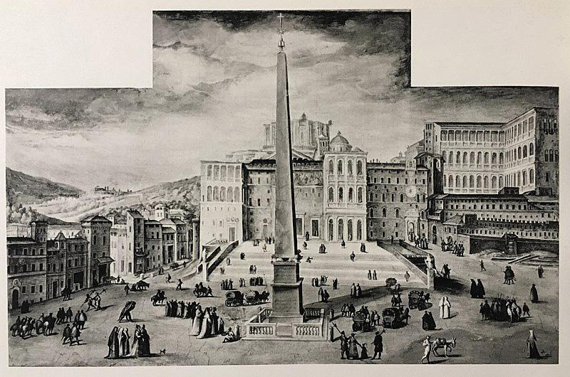 نقاشی قدیمی پیش از میدان سن پیترو