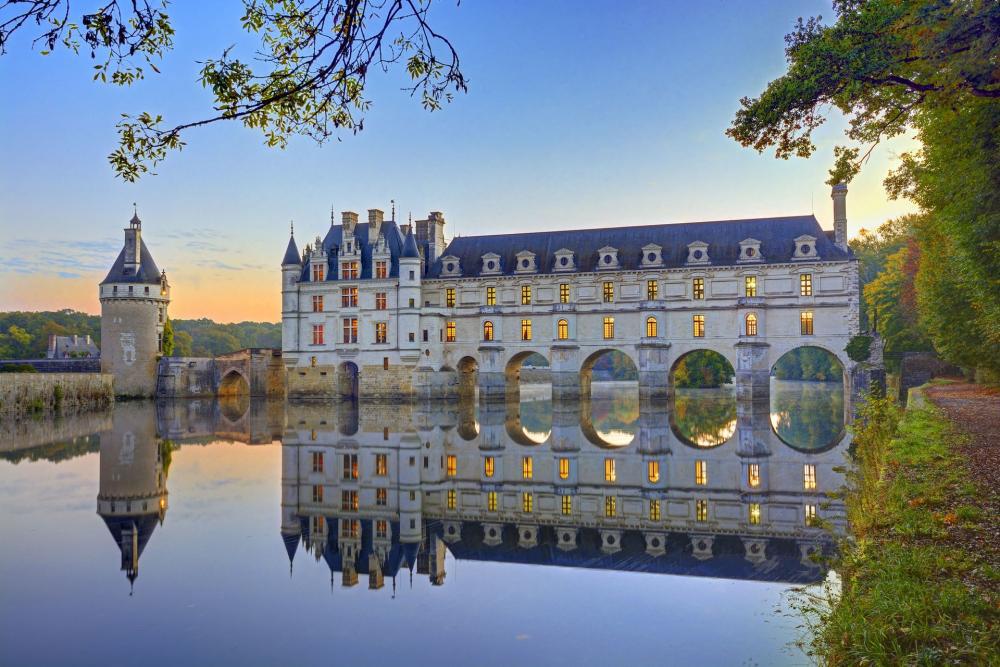 موقعیت قلعه چنانسی فرانسه
