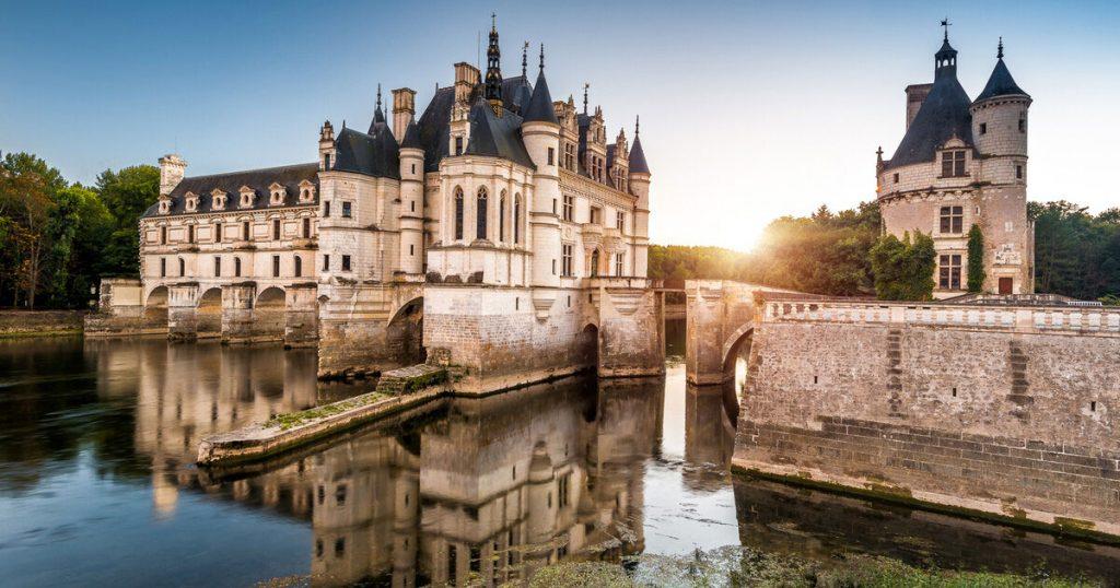 نمایی از قلعه چنانسی فرانسه