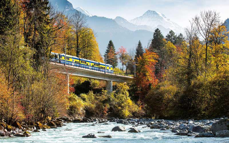 آب و هوای سوئیس در پاییز