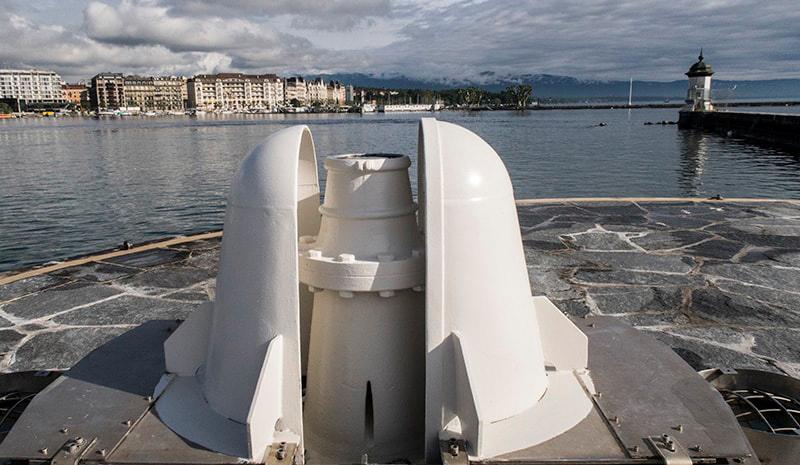 تاریخچه فواره آبی ژنو